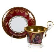Leander Чашка высокая Улрика (0.2 л) с блюдцем