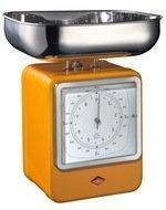 Wesco Кухонные весы-часы Retro Style, 322204-25, оранжевые