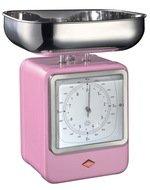 Wesco Кухонные весы-часы Retro Style, 322204-26, розовые