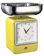 Wesco Кухонные весы-часы Retro Style, желтые