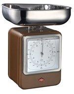 Wesco Кухонные весы-часы Retro Style, 322204-22, шоколад
