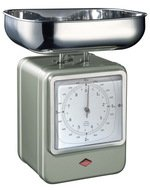 Wesco Кухонные весы-часы Retro Style, 322204-03, серые
