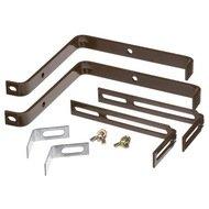 EMSA Держатели Basic для балконных ящиков, до 25 кг, коричневые, 2 шт.