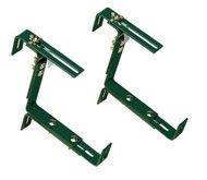 EMSA Держатели Vario для балконных ящиков, до 50 кг, 2 шт., зеленые
