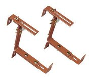 EMSA Держатели телескопические Vario для балконных ящиков, до 50 кг, 2 шт., терракот