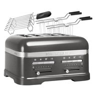 KitchenAid Тостер Artisan для 4 тостов, 5KMT4205EMS, серебряный медальон