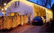 Globall Concept Светодиодный занавес Curtain flash LED влагозащищенный, 2x6 м, 980 теплых белых LED (196 мерцающих)