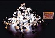 Globall Concept Настольная гирлянда Mini Tablelight LED, 1.5 м, белый и черный, 32 белых LED