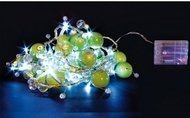Globall Concept Настольная гирлянда Mini Tablelight LED, 1.5 м, зеленые шары и жемчуг, 32 белых LED