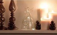 Globall Concept Стеклянный ангел Glasslight LED, прозрачный, 17 см, 10 теплых белых LED