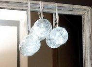 Globall Concept Набор прозрачных стеклянных шаров Glasslight LED, белые, 10 см, 3 шт.
