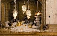 Globall Concept Набор стеклянных шаров Glasslight LED, теплые белые, 13 см, 3 шт.