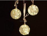 Globall Concept Набор прозрачных стеклянных шаров Glasslight LED, 10 см, теплые белые, 3 шт.