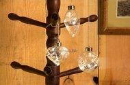 Globall Concept Набор прозрачных стеклянных шаров Glasslight LED, теплые белые, 12 см, 3 шт.