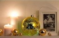 Globall Concept Золотой стекляный шар Glasslight LED, 15 см, 10 белых LED