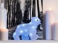 Globall Concept Светодиодный белый медвежонок ходячий, 0.22x0.18x0.12 см, 10 белых LED