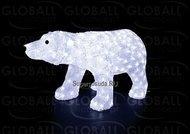 Globall Concept Светодиодный полярный медведь, 0.8x0.4x0.3 см, 270 белых LED