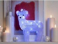 Globall Concept Светодиодный олень, 0.28x0.32x0.15 см, белый, 30 LED