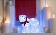 Globall Concept Светодиодный белый мишка, 0.22x0.16x0.11 см, 20 LED