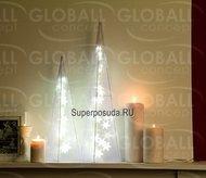 Globall Concept Пирамида Hologram Serie LED, 60см, 24 теплых белых LED