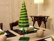 Globall Concept Светодиодная ель в сизале, 10 теплых белых LED, 45 см, зеленая