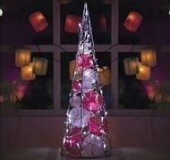Globall Concept Пирамида из шаров LED, 60 см, белый и красный, 24 V