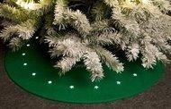 Globall Concept Светодиодный коврик под елку, зеленый, 1 м