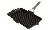 Staub Сковорода для гриля, черная, с силиконовой ручкой, 34х21 см