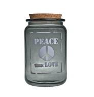 Vidrios San Miguel Банка Peace true love (1.4 л), 12х20 см, серая