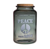 Vidrios San Miguel Банка для сыпучих Peace true love (3.1 л), 15х25 см, серая