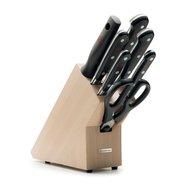 Wusthof Набор кухонных ножей 5 шт.+кухонные ножницы+мусат на св.дерев.подставке «Classic»