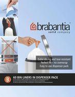 Brabantia Пакет пластиковый, размер B (5 л), белый, 60 шт., в упаковке