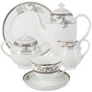 Emerald Чайный сервиз Серебряные узоры на 6 персон, 21 пр.