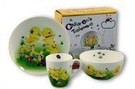 Rainbow Детский набор посуды Цыплята, 3 пр.