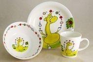 Rainbow Детский набор посуды Жираф, 3 пр.