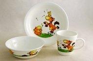 Rainbow Детский набор посуды Лошадки, 3 пр.