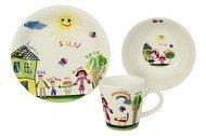 Rainbow Детский набор посуды Детский рисунок, 3 пр.