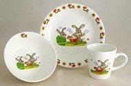 Rainbow Детский набор посуды Зайчики, 3 пр.