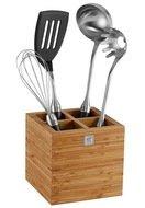 Набор кухонных принадлежностей в подставке TWIN Pure black, 4 пр.