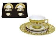 Falkenporzellan Набор чайный на 2 персоны Версаль, кремовый с золотом, 6 пр.