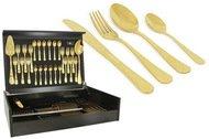 Face Набор столовых приборов на 12 персон Antique Titanium Gold, 75 пр., в деревянной коробке