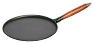 Staub Сковорода для блинов с деревянной ручкой, 28 см, с приспособлением для размазывания теста и лопаткой
