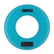 Zanussi Весы кухонные цифровые Bologna, 18х18х1.8 см, голубые