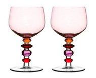 Sagaform Бокалы для вина Spectra (350 мл), 17 см, 2 шт., розово-красные