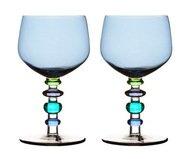Sagaform Бокалы для вина Spectra (350 мл), 17 см, 2 шт., голубые