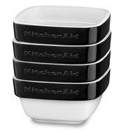 KitchenAid Набор квадратных мини-чаш для запекания (0.22 л), 4шт., черные
