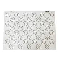 De Buyer Кондитерский коврик с метками наполнения для Макарун, 44 метки, 60х40 см (4935.60)