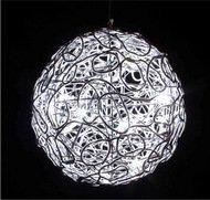 Globall Concept Светодиодный серебряный шар Deco Serie LED, 20 см, 16 белых диодов