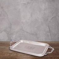 Roomers Поднос, 31x15x2 см, серебряный