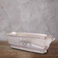Roomers Ведро для льда, 36x13x9.5 см, серебряное